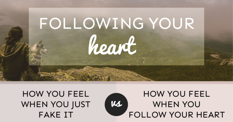 How Different It Becomes When You're Following Your Heart But Not Faking Yourself